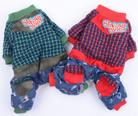 Free shipping ! pet products,dog clothes ,Woven grid, cowboy clothes