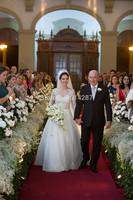 Romantic Vestido De Noiva High Lace Appliques Full Sleeve Long A Line Wedding Dresses Bride Dress 2015 New Fashionable