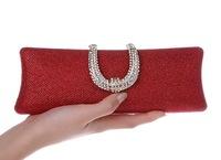 Women's New arrival PU Diamond Evening Bag Ladies Rhinestone Clutch Bag Chain Messenger Bag Free shipping