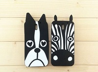Free Shipping Cute Cartoon Zebra Dog Soft Silicone Rubber Back Case For HTC Desire 610