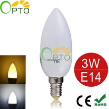 LED Candle Bulb High quality E14 3W LED Candle Lamp low-Carbon life SMD2835 AC220-240V Warm White/White Energy Saving 6pcs/lot(China (Mainland))