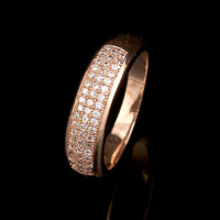 Fine Gold Filled Solid Anillos Lord Of The Rings With High-grade Micro Ring Quality Hand Decorated With Cz
