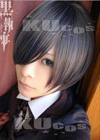 Anime Black Butler Ciel Phantomhive   cosplay wig man