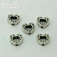 Factory price 7X8MM 100PCS/Lot Antique Silver Heart charm for DIY jewelry Making CN-BJI693-69,Yiwu