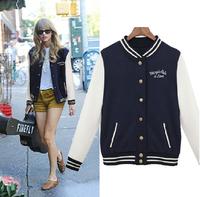 2014 New Autumn Cotton Baseball Uniform Women Cardigan Brand Stand Collar Hoodie Sweatshirts Casual Sport Coats Women Clothing