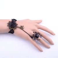hot new 2014 fashion bracelets Black vintage lace women ring bracelets bangles pulseiras bijoux jewelry free shipping