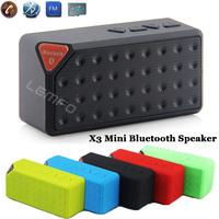 Portable Speaker HandsFree Bluetooth MINI X3 Jambox Style Wireless Music Sound Box Subwoofer with Mic TF USB FM 5pcs Wholesale