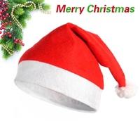 12Pcs/Lot Christmas Hat Caps Non-woven Fabric Hat Santa Claus Father Xmas Cotton Cap Christmas Gift