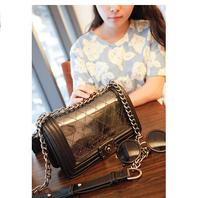 2014 autumn American chain bag for woman shoulder bags woman's transparent handbag 4 colors