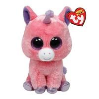 Free Shipping Original TY Beanie Boo Big Eyed Animals Kids Plush Toys Kawaii Pink Unicorn Stuffed Dolls For children15CM