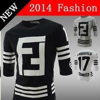 2014 fashion t shirt men camisetas masculinas clothing sport brand baseball sportswear sports autumn printed number cotton 918LP