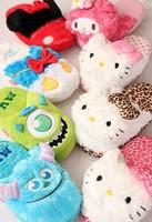 Kawaii Leopard Hello Kitty & Melody Cartoon Warm Slipper Home Slippers Winter Slippers SS1