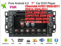 Android 4.2 Car DVD For Chevrolet Epica Tosca Captiva Aveo Lova Kalos Holden Epica Captiva Daewoo Winstorm Gentra Built-in WiFi