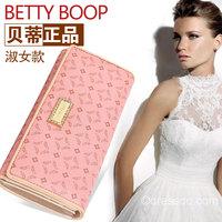 BETTY BOOP Betty 2014 New PU printing lady fashion women's wallet long wallet card bit much