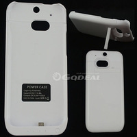 White Portabl Backup External For HTC ONE M8 Battery Case Cover 4500mah With Kickstand Cell Phones Accessories