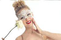 Hot Fashion Photo Photography Lace white Cutout Mask Goggles Mask Veil Sexy 95691