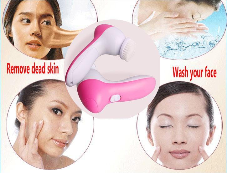 2014 venda quente Mini beleza da pele massageador escova elétrica lavagem de cara máquina Facial Pore Cleaner corpo limpeza massagem(China (Mainland))