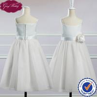 Goingwedding Flower Detail Sash Spaghetti Straps Baby Flower Girl Dress Patterns Flower Girl Tulle Skirt HT048