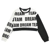 2014 Autumn Women Harajuku Hip Hop Street Fashion Personalized Letter Doodle Long Sleeve Loose Cropped Sweatshirts Y-1112