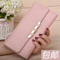 Kangaroo genuine leather wallet women wallet Ms. Long Korean women clutch wallet 2014 new free shipping