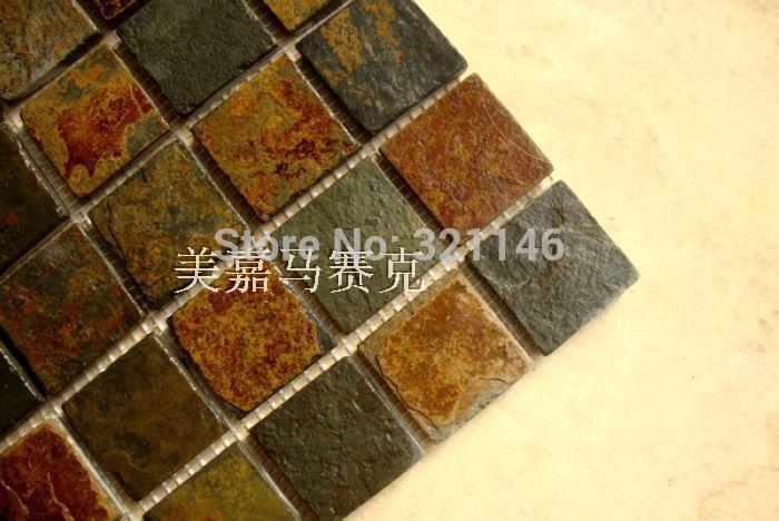natural stone/ slate/culture stone mosaic wall tile floor tile(China (Mainland))