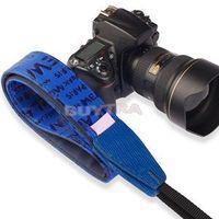 2014 Universal Cow Leather SLR/DSLR Russian Series Camera Shoulder Neck Strap Navy Blue Digital Camera Video Straps For Sale