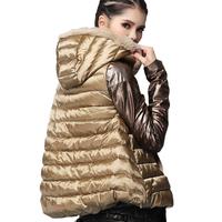 European stations Seto new winter fur leather sleeve short down jacket women coat
