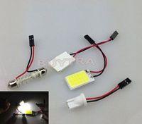 Hign Quality T10 18 LED COB Panel Car Interior Light Bulb Dome Adapter White 12V Lights Lighting Lamp Free Shipping