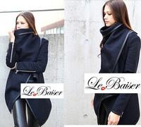 Ladies Coat Winter woolen overcoat women fashion trench woolen coat outwear W4394