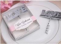 2014 new bridal shower favor Love wine corkscrew  bottle opener wedding favor party supplies gifts guest  souvenirs