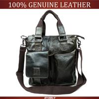 Guaranteed 100% Natural Genuine leather men messenger briefcase Bags travel bag men 's shoulder bags business oil wax hand bag