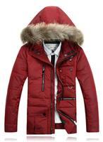 Big Fur Winter Super Warm Man's Down Jacket Fashion Long Down Coat Winterwear White Duck Down Parkas M-3XL JK-356