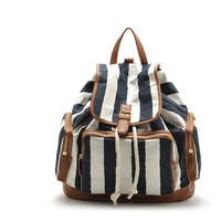 Fashion women backpack   candy strip pattern fashion women message bag  outlet sale  item no:75010