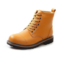 Autumn New Designer Leisure Lace-up Men's Leather Wide Calf Boots Shoes Fashionable Mens Boots Men Ankle Booties Size 38 to 44
