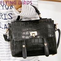 FLYING BIRDS! new style crocodile pattern women handbags shoulder bag Women messenger bags export free shipping LS3790c