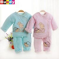0-6M Long-sleeved baby cotton suit newborn infants warm winter jacket cotton carters baby Boy Girl roupas meninos Buedy