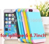 Fashion Hybrid Layer Case For Iphone 6 6G Air Iphone6 4.7 Hard Plastic + Soft TPU Silicone Back Skin 50pcs