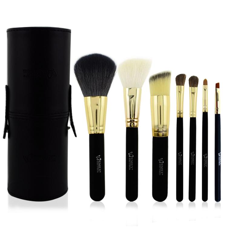 7pcs Black Makeup Brushes
