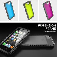 New SEISMIK Suspension Frame Drop proof back Case for iphone 5 5S 5C