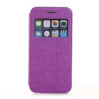50pcs/lot Window Flip Leather Case Cover For Apple iPhone 6 4.7 Wholesale Phone Bag