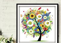 "Wall Home Decoration Cross Stitch "" Summer"" Cross-Stitch Kit , DIY Cross Stitch Sets,Embroide ry Ki t"