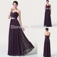 Women Dresses Long Sexy Purple Prom Dress Chiffon Chiffon + Satin + Pongee CL6190Y