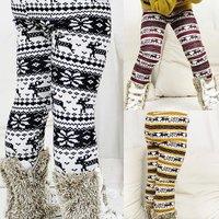 BP083 Free shipping 2014 new good quality girl skinny pants winter child pants deer kid legging warm fashion retail