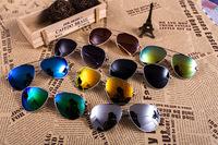Explosion fox head metal yurt new retro trend for men and women wild Colorful glasses wholesale,Wholesale Gafas de Sol