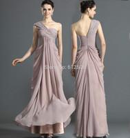 2014 Elegant One Shoulder Chiffon Evening Dresses Beading Pleats A-Line  Special Occasion Dresses ..