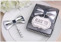 2014 new wedding favor bowtie wine corkscrew bottle opener bridal shower favor guest gifts souvenirs give-away