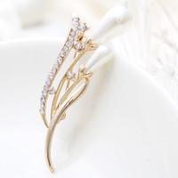 Free Shipping Women Christmas Gift Fashion Alloy Brooch Silver Crystal Jewelry Rhinestone Brooch Women Brooch For WeddingYB-020
