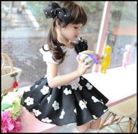 2014 Girls Dress Flowers Princess Sequined Halloween Thanks Giving Christmas Gift Birthday 11-007