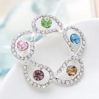 Free Shipping Women Christmas Gift Fashion Alloy Brooch Silver Crystal Jewelry Rhinestone Brooch Women Brooch For WeddingYB-019