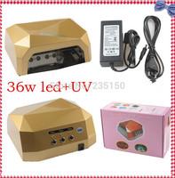 Latest LED Lamp Nail Ccfl + Led  36W  Luxury  Nail Lamp Induction Fan Voltage Universal Time UV Nail Lamp Nail Tools uv lamp 36W